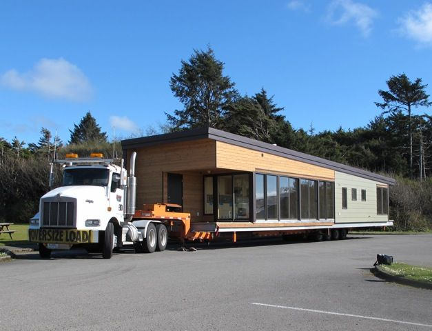 A Balance Large module makes its way to its site on the Washington coast.