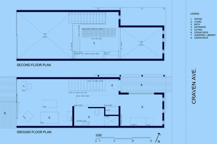 "The floor plan. Image courtesy <a href=""http://www.linebox.ca/"">Linebox Studio</a>."
