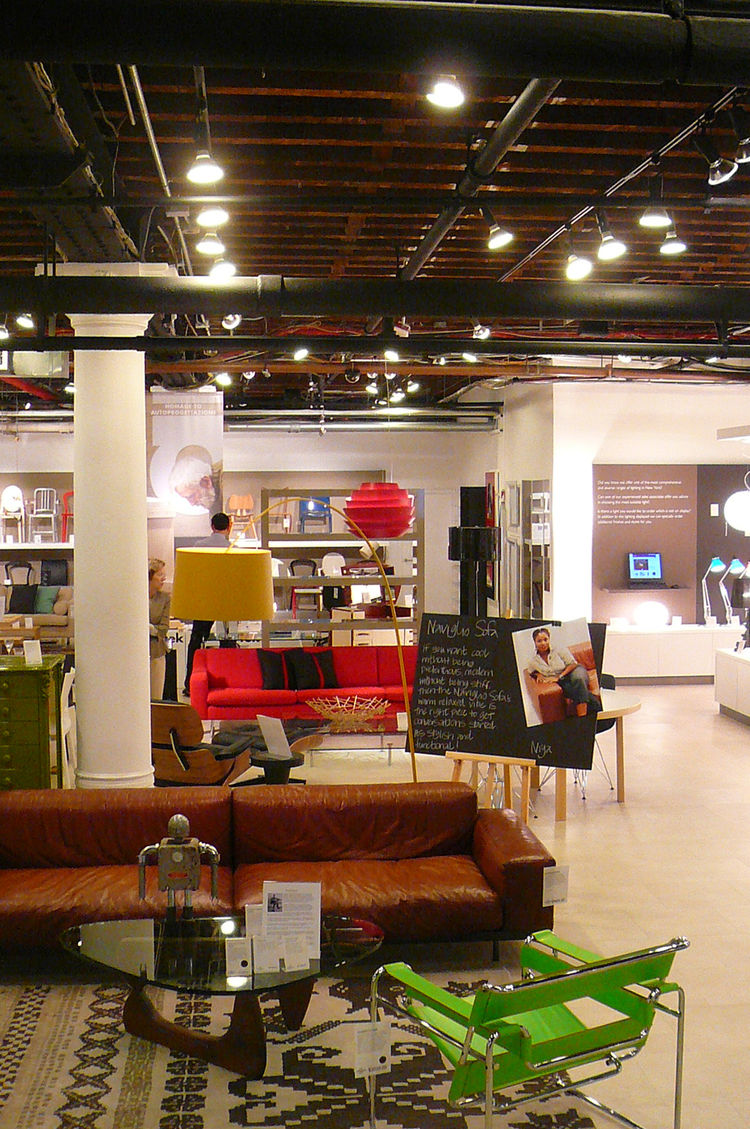 And downstairs, the only Conran shop in America, chockablock with sleek modern furniture and lighting.
