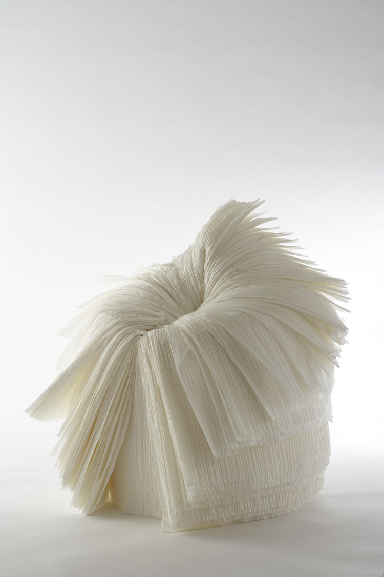 Cabbage Chair, prototype. Oki Sato (Japanese, b. 1977), Nendo. Japan, 2008. Pleated paper. Photo: Masayuki Hayash