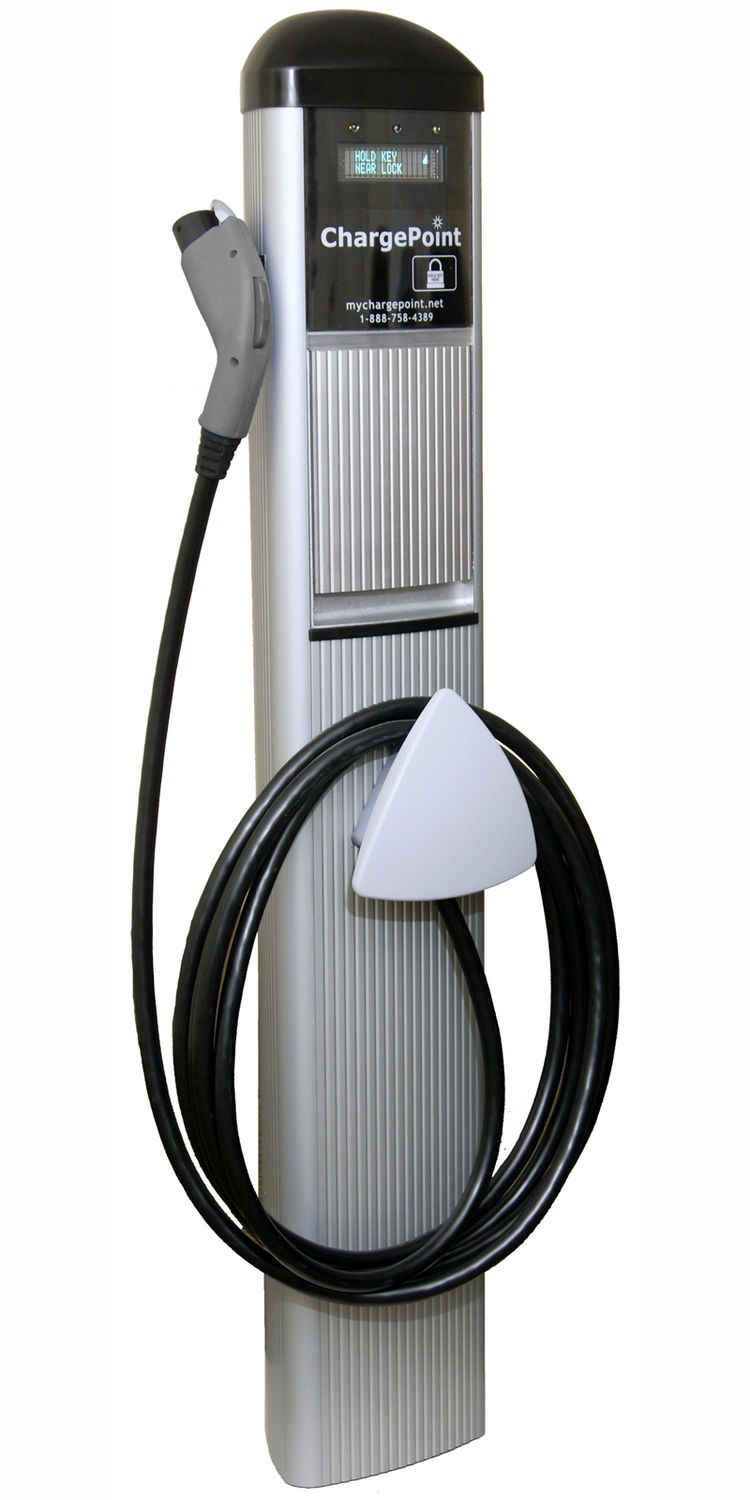 ChargePointTM Networked Charging Station, bollard. Peter H. Muller (German, b. 1954), Interform. Manufactured by Coulomb Technologies, Inc. Designed United States, deployed United States and Denmark, 2008–present. Aluminum, molded plastic, power measuring