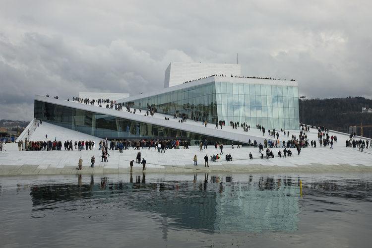 Oslo Opera House. Craig Dykers (American, b. 1961), Tarald Lundevall (Norwegian, b. 1948), and Kjetil Trædal Thorsen (Norwegian, b. 1948), Snøhetta; project architects: Bjørg Aabø, Sigrun Aunan, Simon Ewings, Rune Grasdal, Tom Holtmann, Elaine Molinar, Ma