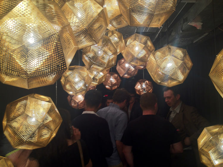 "<a href=""http://www.dwell.com/articles/tom-dixon-conversation.html"">Tom Dixon</a> and crew were taking it somewhat easy during ICFF following an incredible showing at Salone del Mobile, in which he curated a massive exhibition at the Museum of Science and"