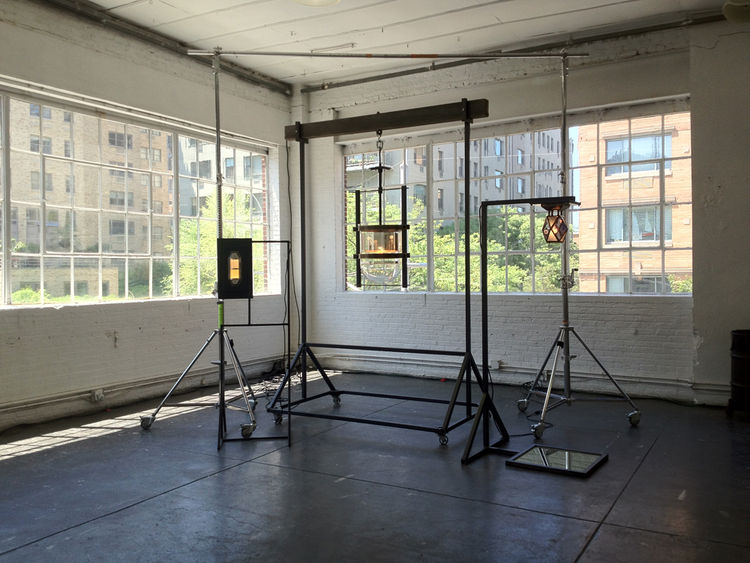 """Charleston-based lighting manufacturer <a href=""""http://www.urbanelectricco.com/"""">Urban Electric Co.</a> kicked things off on Thursday with an installation of <a href=""""http://www.srgambrel.com/"""">Steven Gambrel</a>'s new collection at Industria gallery spac"""
