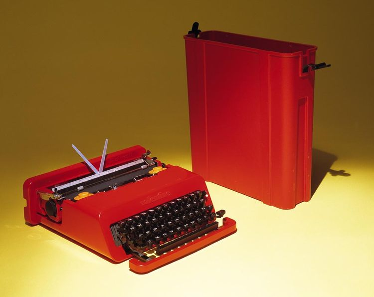 Valentine I-47 typewriter designed in 1969 by Ettore Sottsass and Perry A. King for Olivetti.