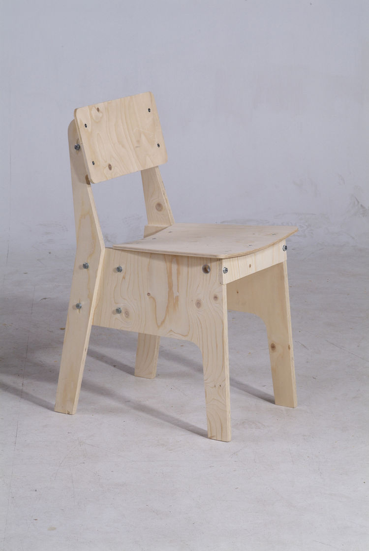 Crisis Chair in nude plywood