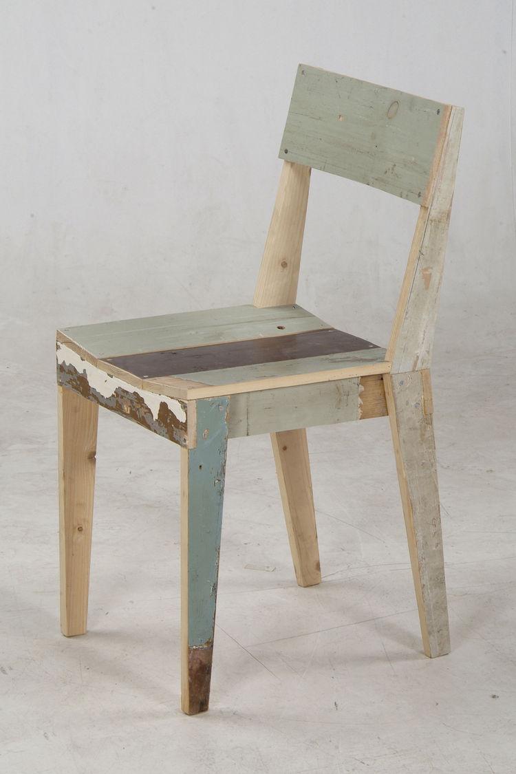 Oak Chair in scrapwood, unlacquered