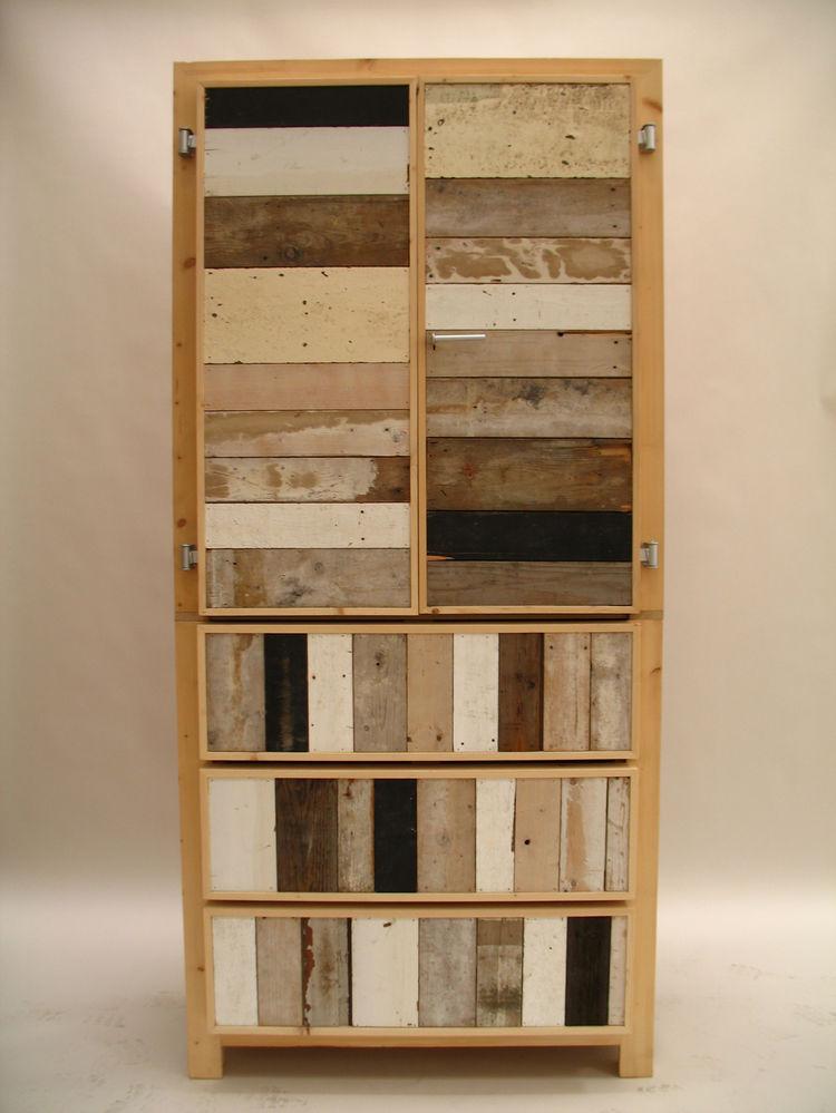 2-Door Cupboard in scrapwood