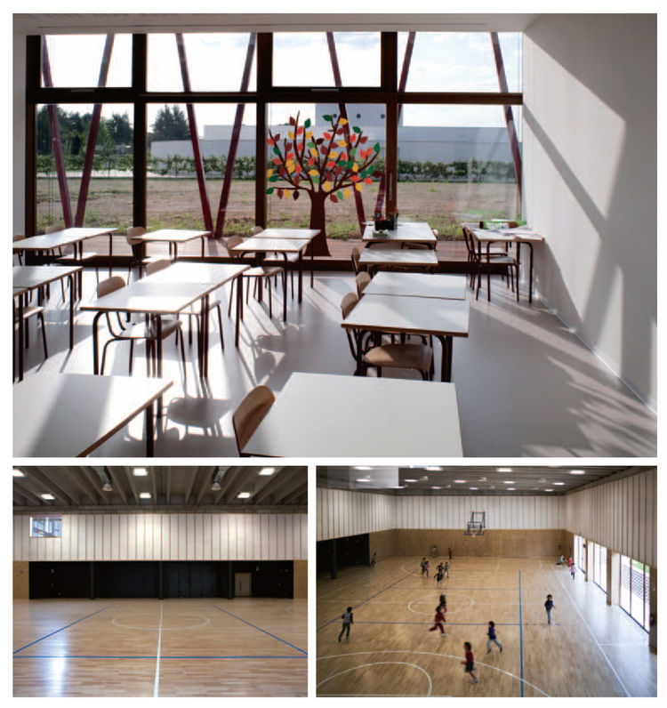 Ponzano Primary School in Ponzano Veneto, Italy, is a school for 375 students, ages six through ten. Though the layout, a building surrounding a central courtyard, harks back to monastic design, its environmental cred is 100 percent 21st century. The scho