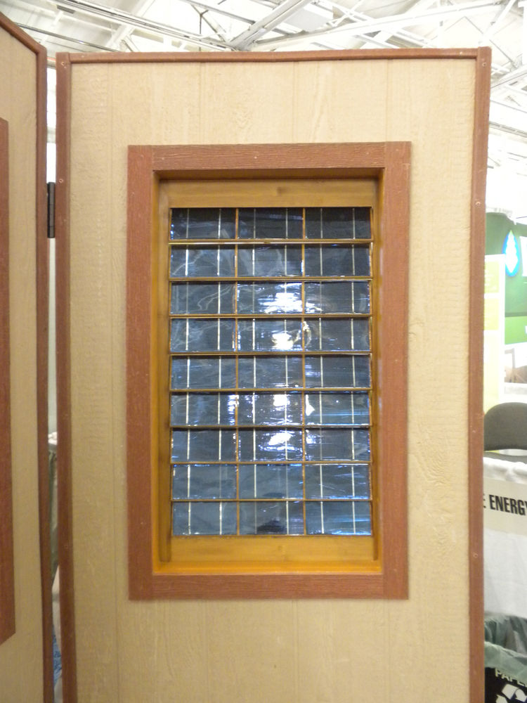 "Making its debut at West coast Green was <a href=""http://www.plugnsaveenergyproducts.com/"">Plug 'n Save Energy Products Solar Shutters</a>. The shutters are equipped with solar cell on the outside, with the electrical work building into the frame."
