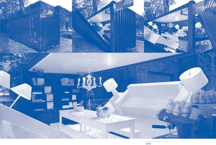 """Images of the Push Button House 1 by <a href=""""http://www.architectureandhygiene.com"""">Adam Kalkin</a>. Page from <i>Quik Build: Adam Kalkin's ABC of Container Architecture</i>. Courtesy of Adam Kalkin."""