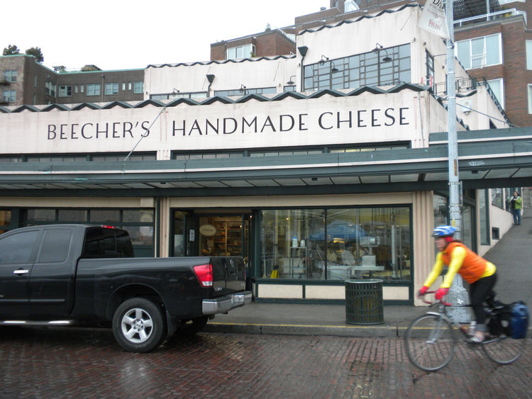 "Just down from Starbucks is <a href=""http://www.beechershandmadecheese.com/"">Beecher's Handmade Cheese</a>, which boasts the ""world's best mac and cheese."""