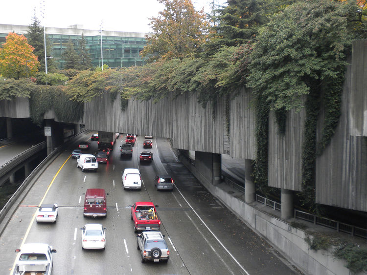 "The reason the art under the viaduct compelled me so was that ramps over the I-5 highway make for what I consider some of the most beautiful underpasses to drive. The greenery that clings to the concrete bridges above stumbles over from <a href=""http://ww"