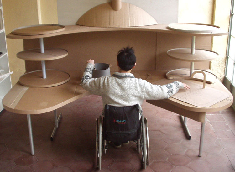 A sink with a shallow basin creates higher leg clearance so an individual in a wheelchair can use the sink without risking banging up their knees.