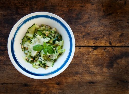 Heidi's Summer Squash Salad with Parmesan and Pine Nuts.