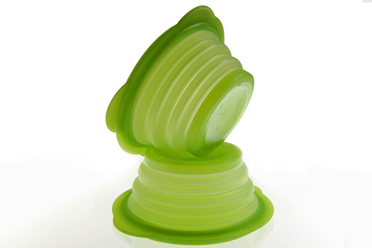 "The other finalist for the Product Design Award was <a href=""http://www.frogdesign.com/"">Frog Design</a>. Shown here is Tupperware Flatout!, which folds flat and then expands accordion-style to become bowls. Photo by Frog Design."