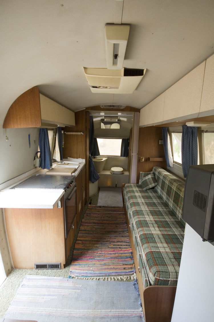 This is what the Airstream looked like upon purchase. Unfortunately upon closer inspection it turned out to be mouse infested. That meant the whole interior had to be torn out.