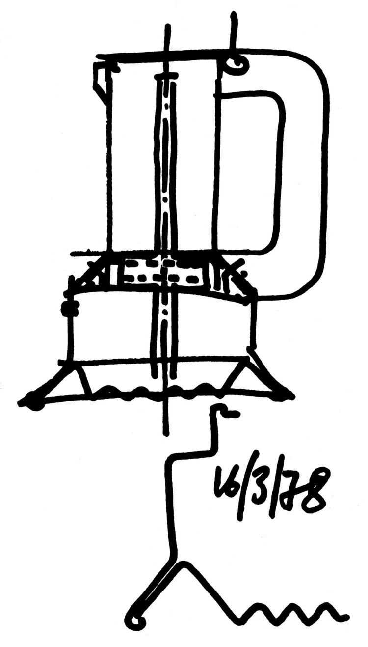 Designer Richard Sapper, born in Munich in 1932 and a designer of ships and watches, executed a bold-lined sketch of an espresso machine for Alessi in 1978.