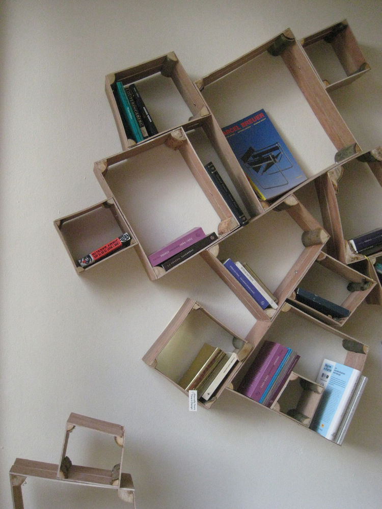 Split Box shelving by Peter Marigold at the Frozen Fountain.