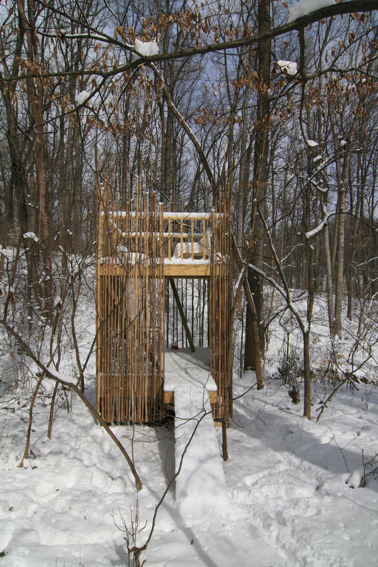 "The structure has held up well through its first winter—and so far into its second. ""The kids love it in the winter,"" Laurie says.<p></p>Photograph courtesy of Laurie Stubb."