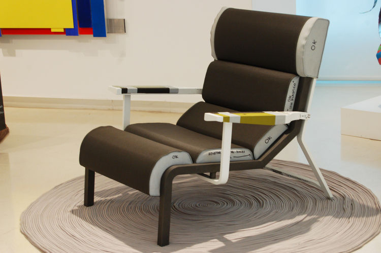"The Bob armchair, designed by Hella Jongerius for Kettal, recently won Wallpaper's 2011 ""armchair of the year"" award."