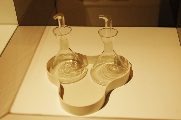 "I had no idea that Barcelona–based designer  <a href=""http://www.dwell.com/slideshows/little-field-of-flowers.html"">Nani Marquina</a> is the daughter of Rafael Marquina, who created this simple and beautiful oil decanter set in 1961. This is why it pays t"