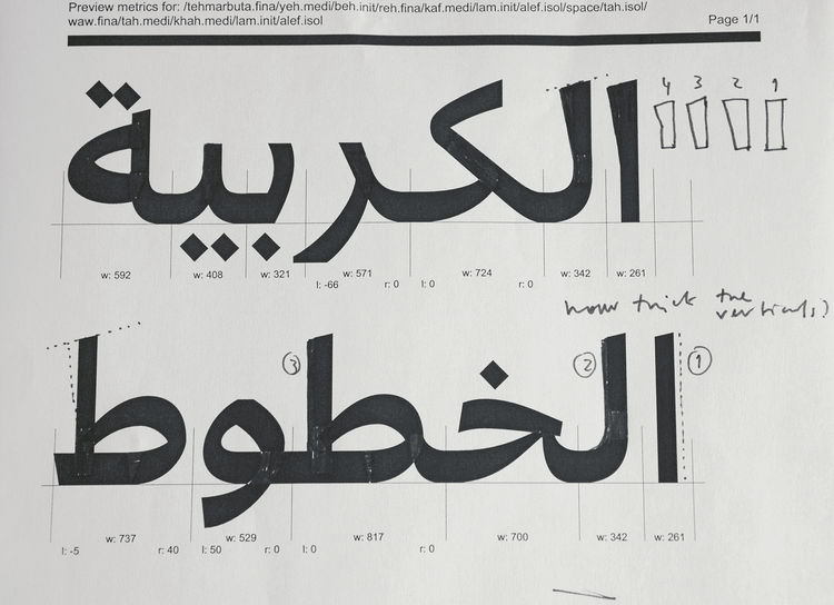 Bil'ak takes a meticulous approach to Arabic type design, although he is unaware of the words' meaning.