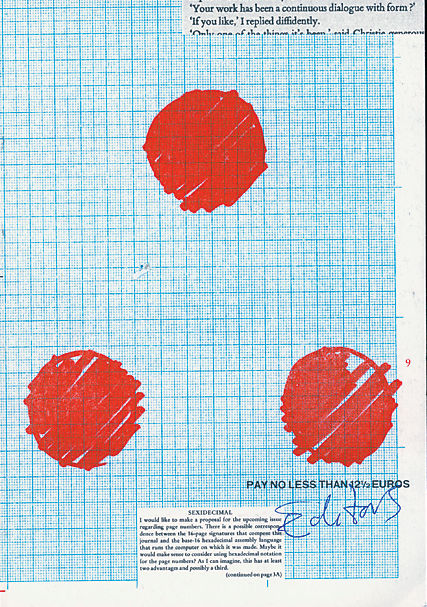 A cover graphically riffs on the magazine's title, Dot, Dot, Dot.