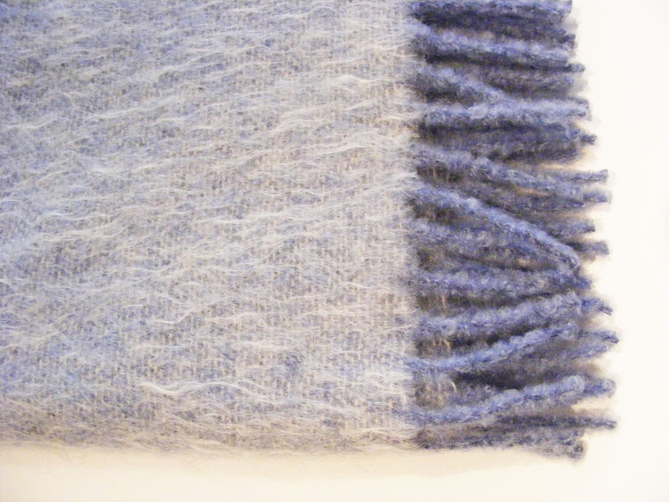 "Mohair Felted Blanket. ""This was handwoven in Germany, and felted afterward. These blankets are offered in fine color combinations and are very warm and robust."""