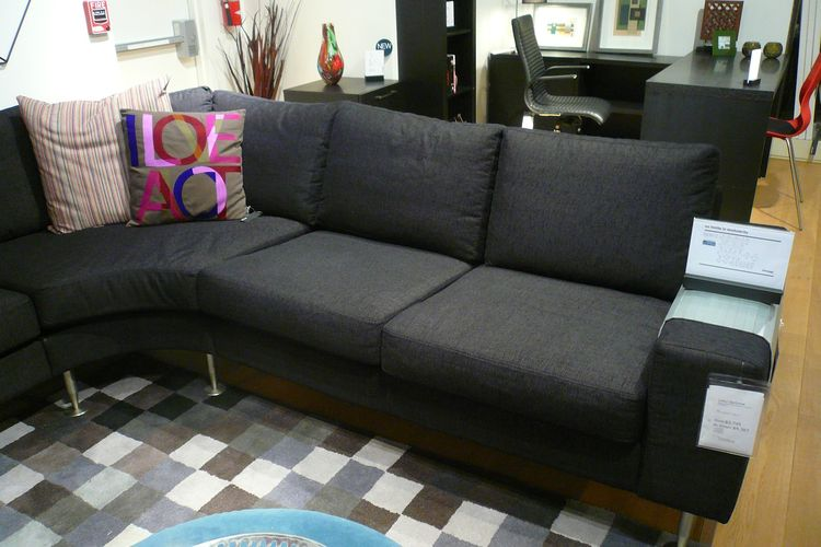 I was able to check out the sofa in person (in a sectional model), which was helpful. To be honest, I'm not sure I'd opt for this over my Ikea version, especially knowing how durable (and dryclean-able) the Ikea couch is. I do like the wide armrests, thou