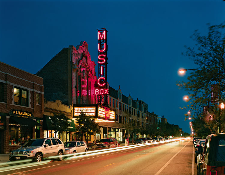 """Lynch calls the Music Box movie theater on Southport Avenue, designed by local architect Louis A. Simon in 1929, """"the last great independent"""" in Chicago. If you go, watch out for the theater's tireless protector, a ghost named Whitey who is said to still"""