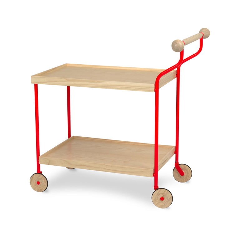 "I loved the Darjeeling tea trolley by Swedish designer <a href=""http://www.kraitz.se/"">Anna Kraitz</a> for Källemo. Bright color and blonde wood—you can't get much more Scando than that."