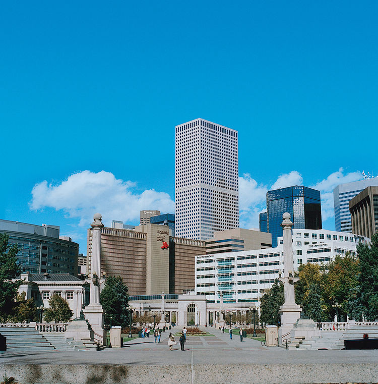 Denver's ever-changing skyline showcases an eclectic mix of architectural styles.