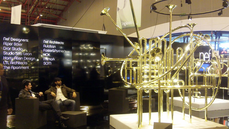 "Paris-born, New York-based designer and musician <a href=""http://www.sebleon.com/"">Sebastien Agneessens</a> designed a musical booth to introduce Turkish real estate developer <a href=""http://www.nef.com.tr/"">Nef</a> as a brand that makes design instead o"