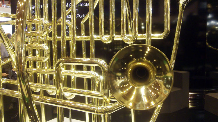 Here's a close-up of the musical sculpture.