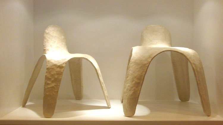 """Looking for an alternative to noxious plastics, young Korean duo Cho Eun Whan and Shin Tai Ho of <a href=""""http://www.maezm.com/"""">Maezm</a> have created a frameless, featherweight chair from the mulberry mucilage used to handcraft traditional Korean Hanji"""
