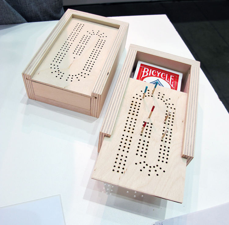 I also thought it was hysterical that she made her own cribbage board, a product of necessity since she didn't like any ones she found on the market.