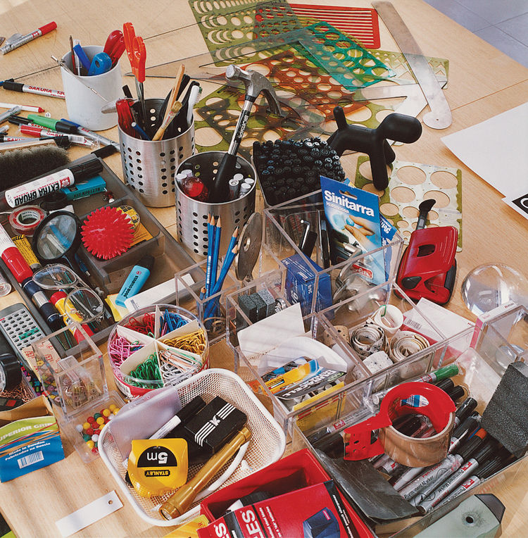 Aarnio's tools of the trade.