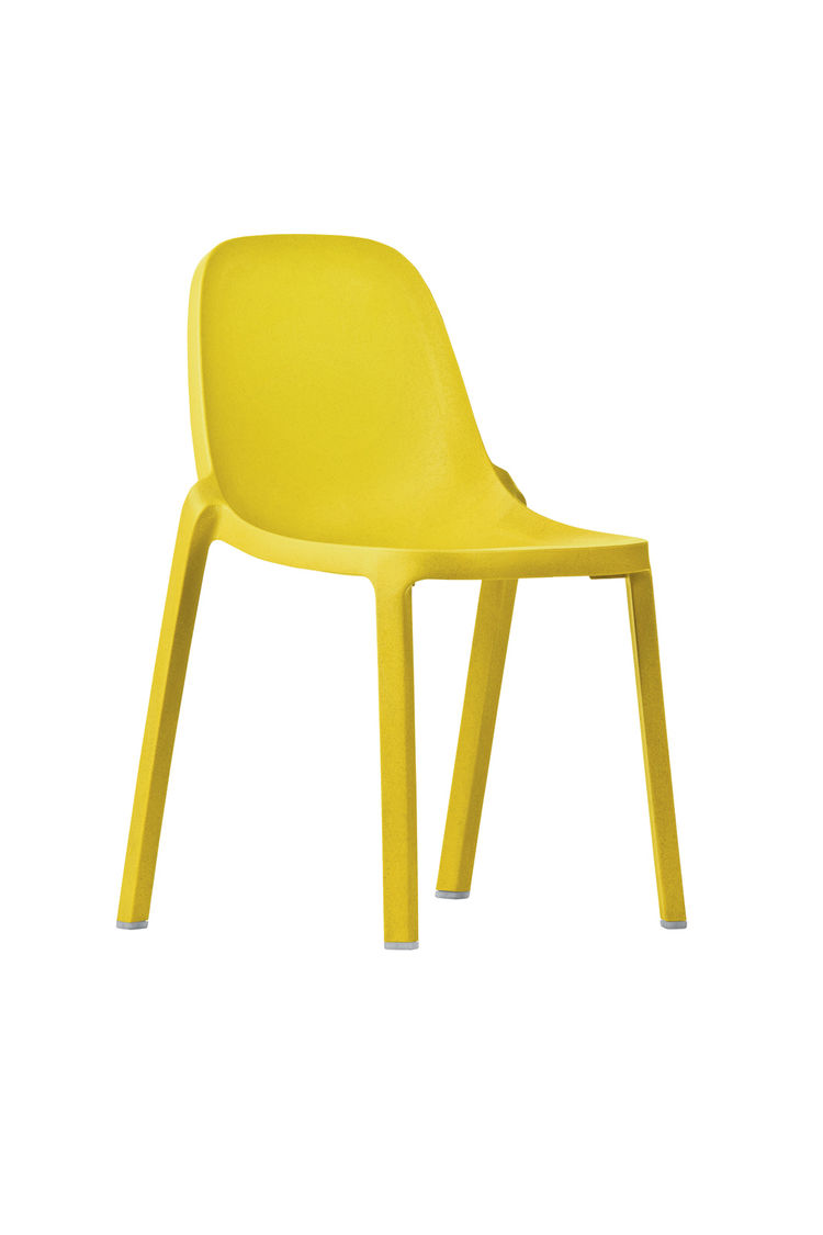 yellow modern environmentally friendly chair by emeco and philippe starck