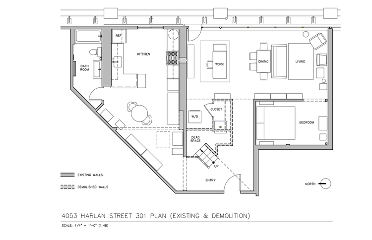 Here's the floor plan as it was when we moved in. Lots of wasted space here.