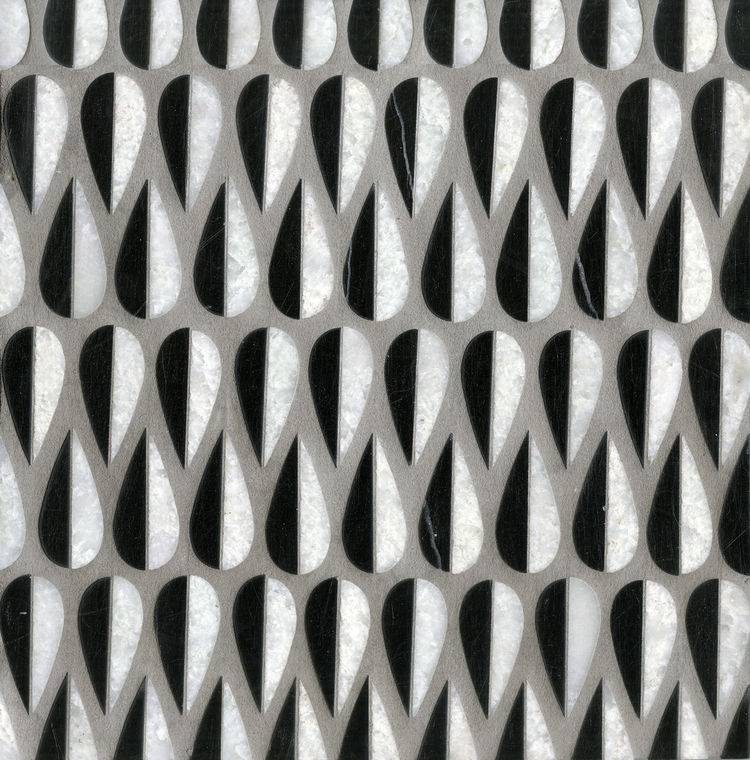 The Mod Drops arrangement of tiles has a Scandinavian sensibility.
