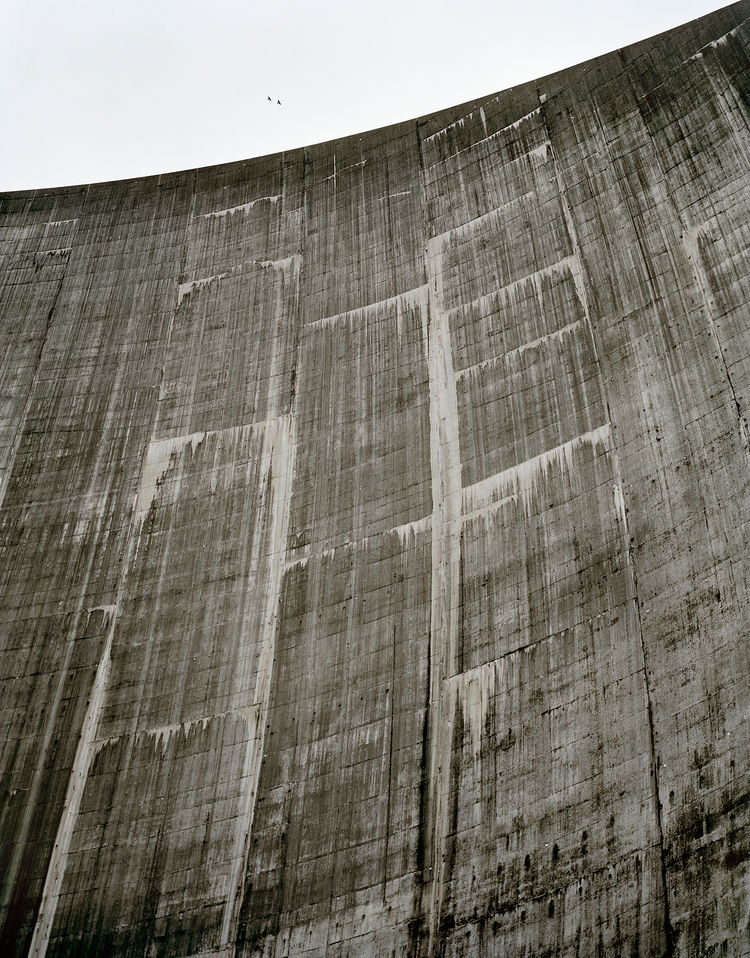 The lower face of Roselend dam