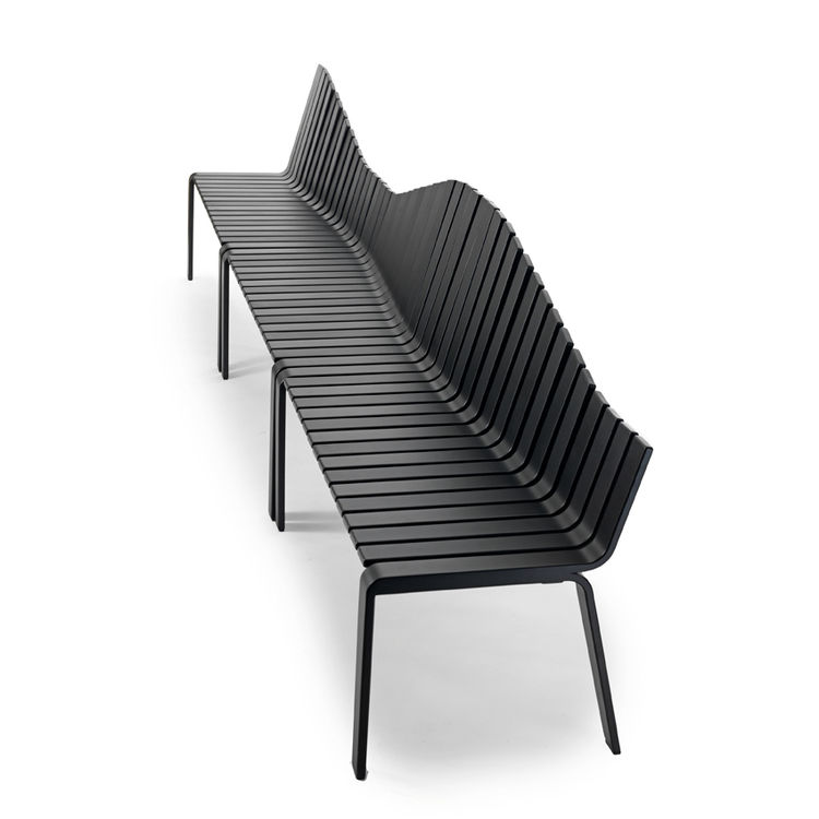 Monica Förster's winsome Motion peice is an asymmetrical answer to boring old bench. It can be linked to a table, or it can go on for days by linking a number of them together.