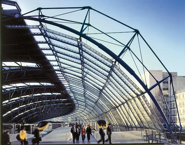 The Waterloo International Terminal, 1993, in London. Image courtesy Jo Reid/John Peck.