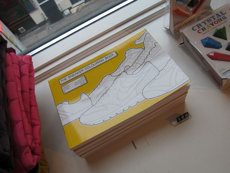The perfect gift for hipster parents, I mean kids: The Sneaker Coloring Book.