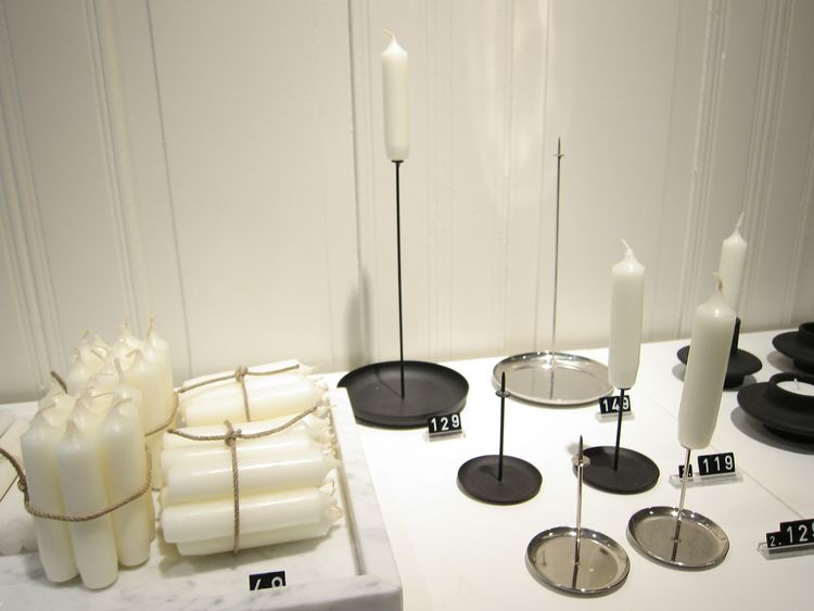 I love these simple but striking spiky metal candleholders by the French design company ENO.
