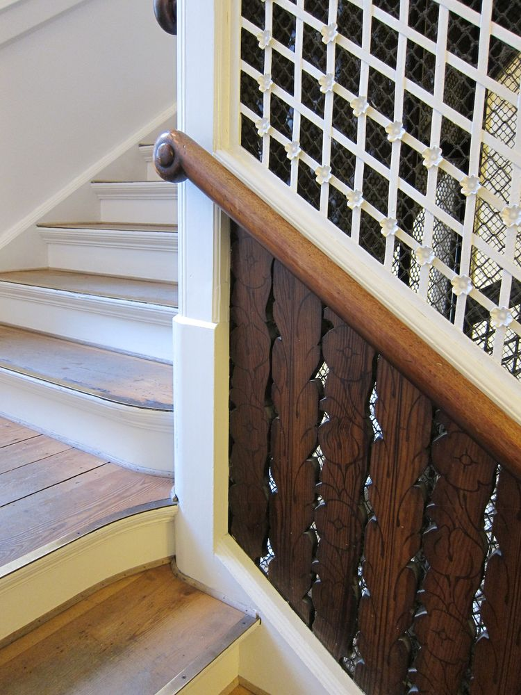 "Here's a close-up of the staircase leading from the shop entrance to the street—check out all the intricate architectural details.<br /><br /><p><em><strong>Don't miss a word of Dwell! Download our </strong></em><a href=""http://itunes.apple.com/us/app/dwe"