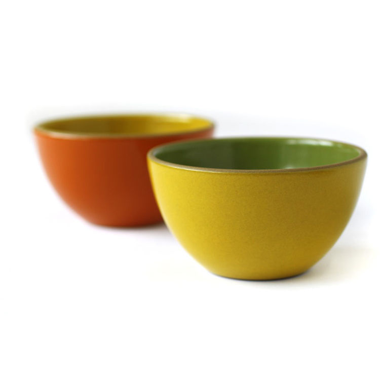 "Set of children's veggie bowls by <a href=""http://www.heathceramics.com/go/heath/homeware/store/index.cfm?catID=54#shop"">Heath Ceramics</a>, $50.00."