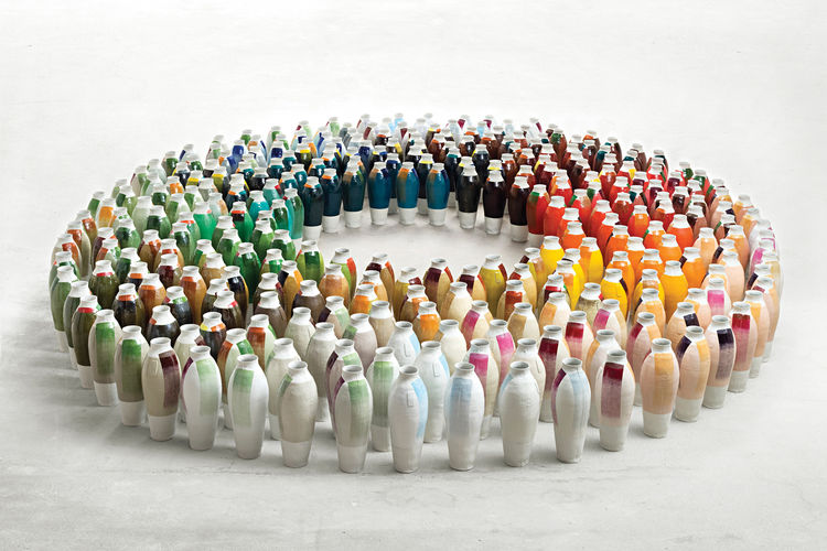 <h2>2010</h2><p>Misfit exhibition in Rotterdam introduces 300 Unique Vases and the Colourful Blacks paints. <i>Hella Jongerius: Misfit</> (her second monograph) is published by Phaidon.</p>