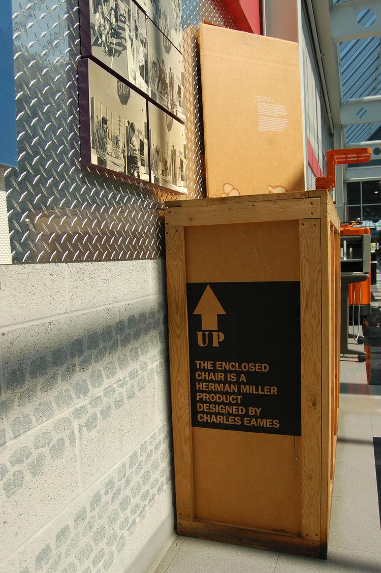 An original packing crate.